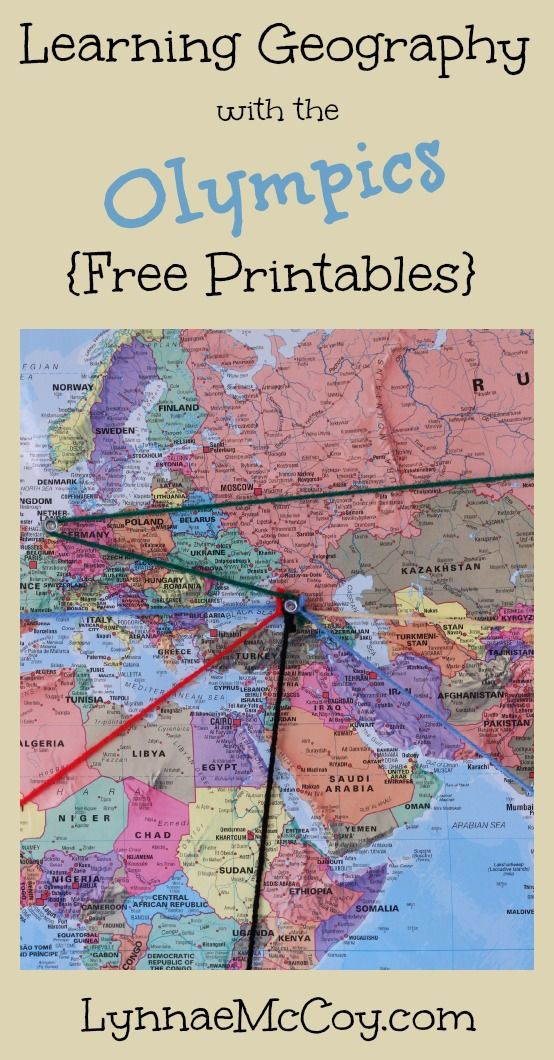 Learning Geography with the Olympics - Free Printables