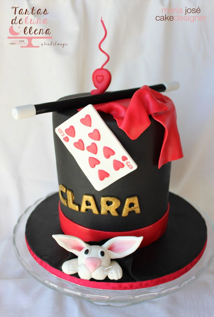 Tarta Magia - Mago Magic - Magician Cake http://tartasdelunallena.blogspot.com.es/