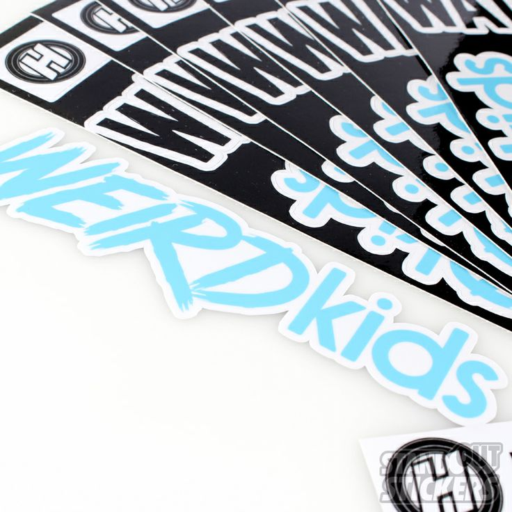 Order multiple kiss cuts on your sticker design to make a sheet of custom stickers