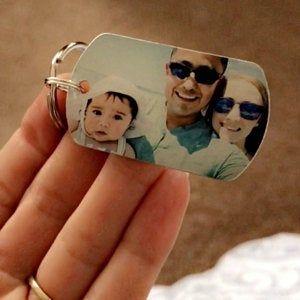 Double Sided Key Chain – Custom Photo Keychain – Dogtag Keychain – Gift for Her – Photo Keychain – Gift for Him – Boyfriend birthday gift