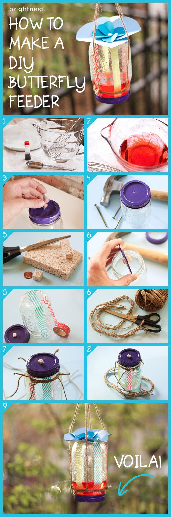 DIY TUTORIAL - BrightNest | Attract Butterflies By Making A DIY Feeder in 6 Simple Steps #happyfamilysummer