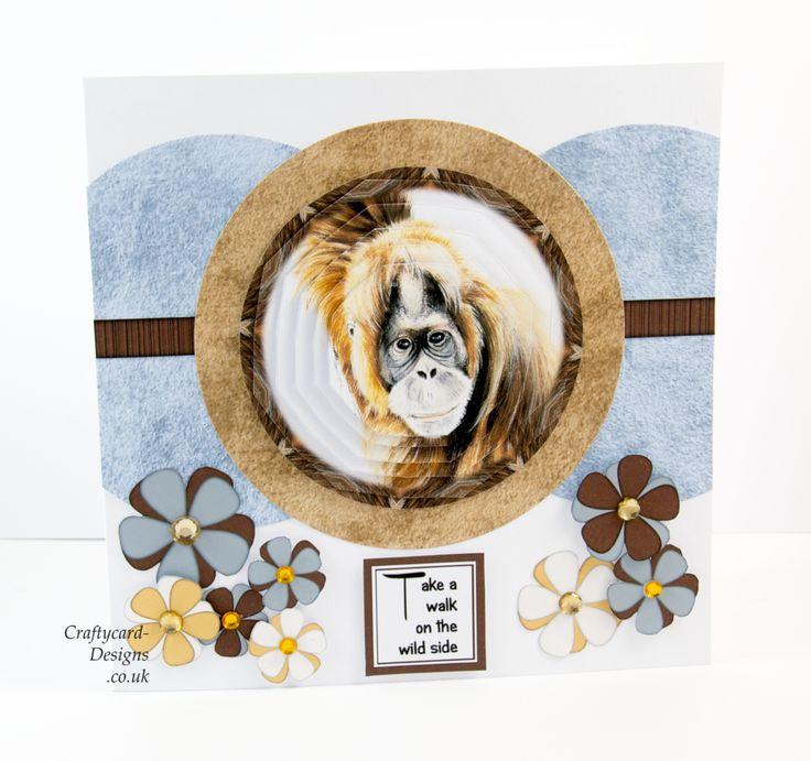 "Handmade Card : Made using Pollyanna Pickering's dvd rom ""A Walk In The Wild"""