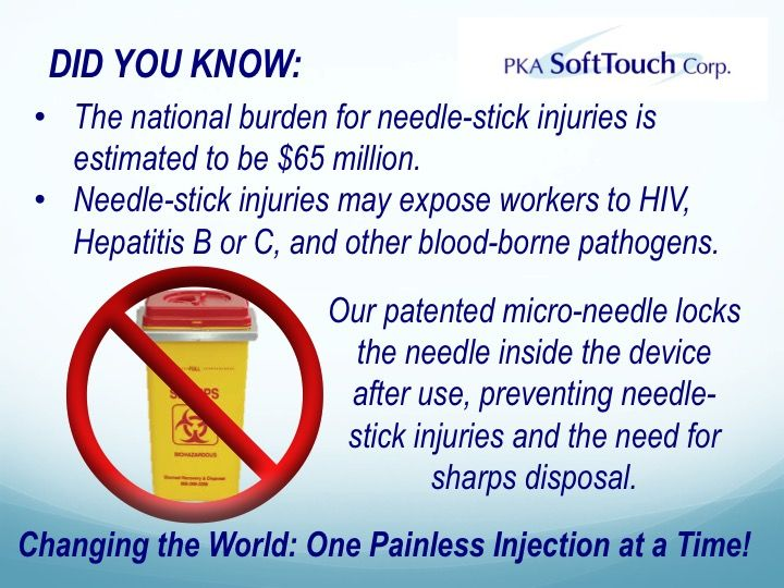 Painless Injections No Sharps Disposal And No Chance Of Needle