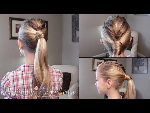 How To: Mohawk Fishtail Braid Ponytail Tutorial | Pretty Hair is Fun - YouTubeBraid Hairstyles, Braids, braids tutorial, braids for short hair, braids for short hair tutorial, braids for long hair, braids for long hair tutorials... Check more at http://app.cerkos.com/pin/how-to-mohawk-fishtail-braid-ponytail-tutorial-pretty-hair-is-fun-youtube/