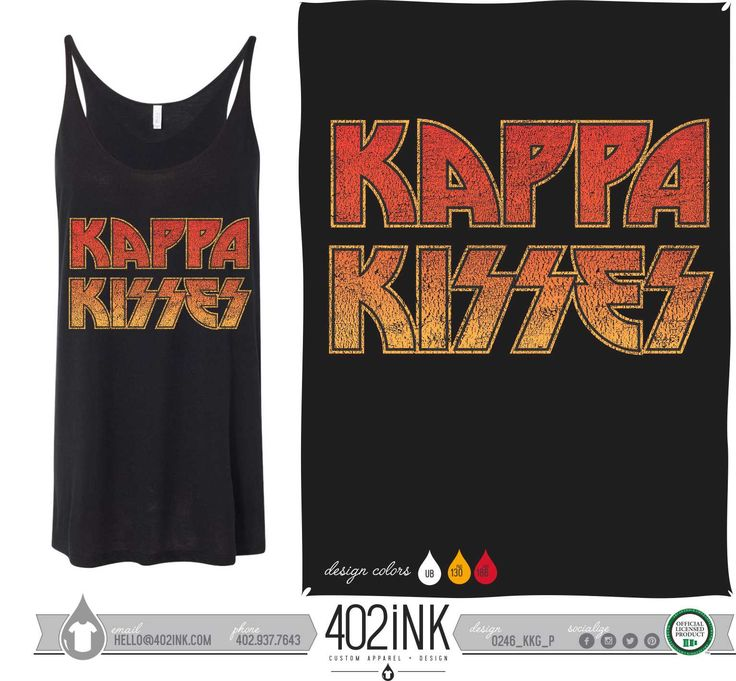 #402ink #402style 402ink, Custom Apparel, Greek T-shirts, Sorority T-shirts, Fraternity T-shirts, Greek Tanks, Custom Greek Apparel, Screen printed apparel, embroidered apparel, Sorority, KKG, Kappa Kappa Gamma, Kappa Kisses, Philanthropy