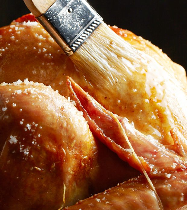 Dose anyone else take their turkey out of the oven to baste? No wonder the temp goes down. Oh my, wonders of wonders. Makes perfect sense.How to Baste Your Turkey (Video) - Bon Appétit
