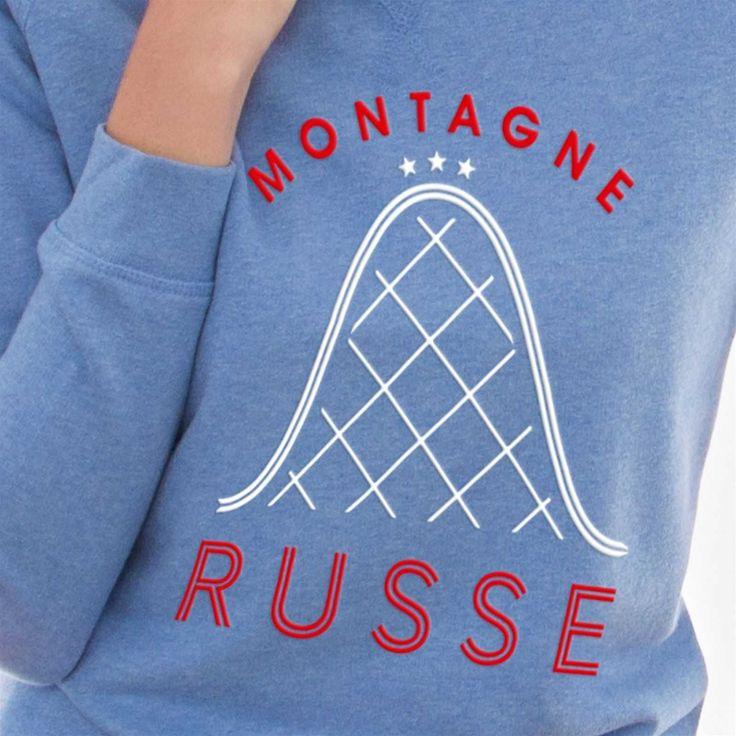 FRENCH DISORDER Montagne Russe - Sweat en coton - bleu