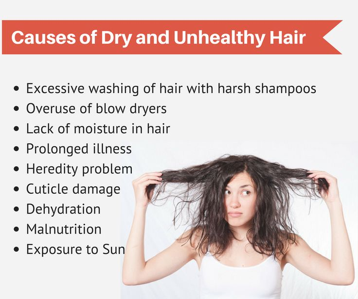 Causes of Dry and Unhealthy Hair