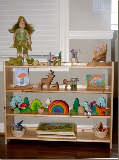 Perfect shelf placement for spring kinderzimmer