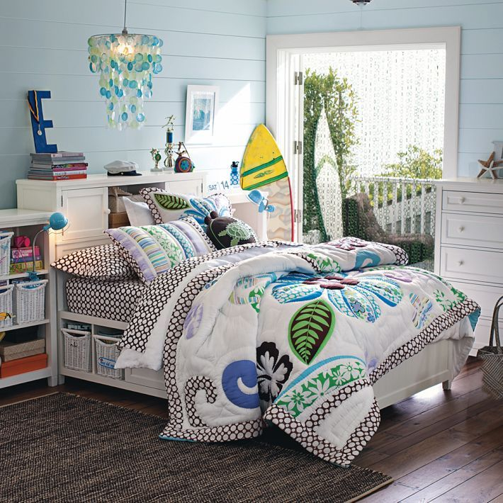 164 best images about room ideas for young ladies on - Beach themed bedroom for teenager ...