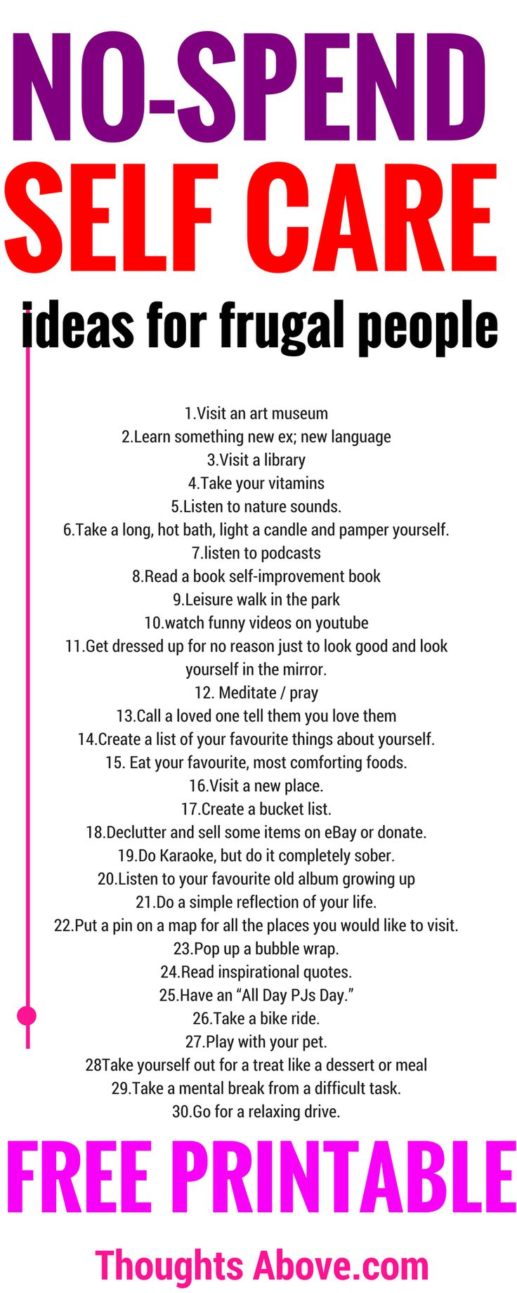 What an impressive! List of self-care ideas. budget-friendly and straightforward, I just pinned this for future reference. Just click to see. Self-care ideas| Self-care checklist| Self-care tips| Self-care Activities and routine. Self-improvement ,productivity