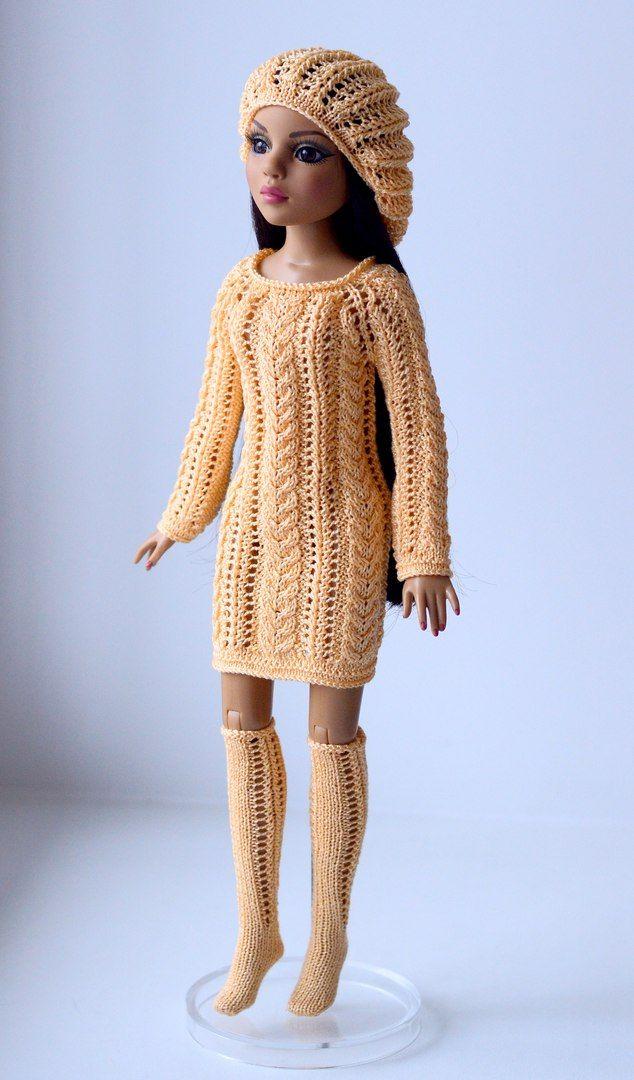 фото схема вязания пальто для барби спицами перед тем