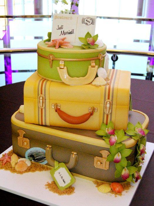 Travel cake: Cakes Ideas, Suitcases Cakes, Travel Cakes, Cakes Art, Amazing Cakes, Have A Nice Trip, Blue Hawaii, Wedding Cakes, Luggage Cake