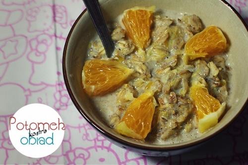 Pomarańczowa owsianka - Potomek w kuchni czyli nie do końca normalny blog kulinarny