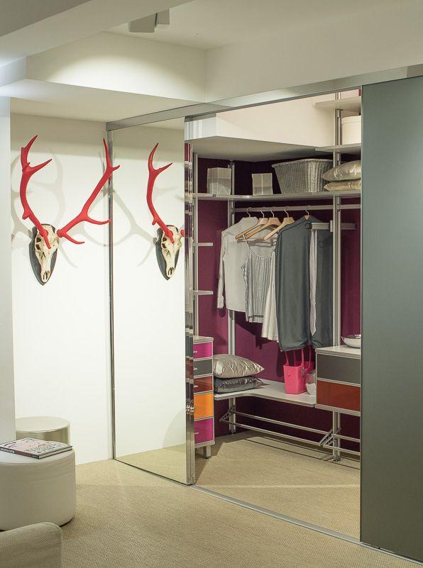 Die besten 25+ Kleiderschrank mit schiebetüren Ideen auf Pinterest - kleiderschrank schiebeturen stauraumwunder