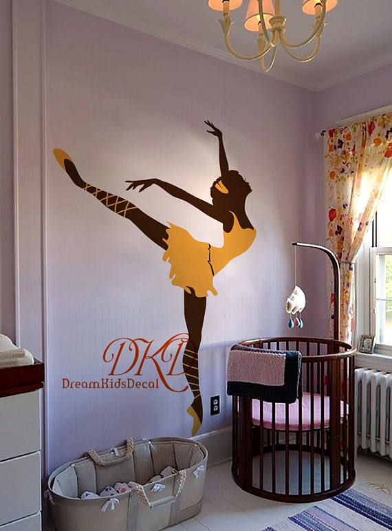 Ballerina Wall Decal Ballet Wall Decal Baby Room Vinyl Decal Wall Stickers Girls Room Wall Art Girls Room Wall Art Dance Wall Decal Wall Stickers Girl Room