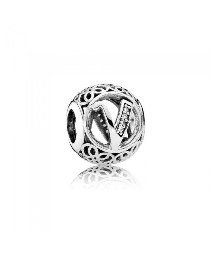 Pandora Vintage V Charm 791866cz Pandora Jewelry Pandora Bracelet Pandora Charms
