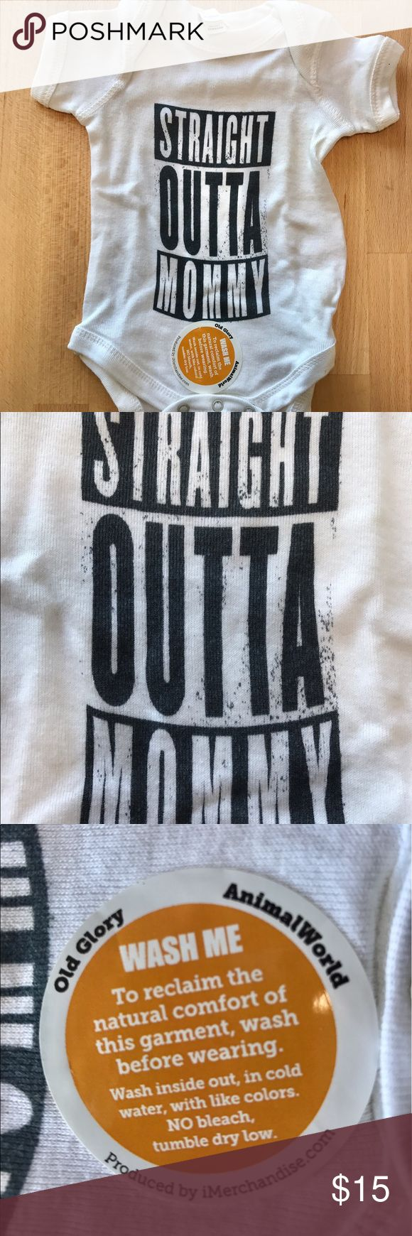 Straight Outta Mommy Onesie Brand New Unisex Straight Outt Compton New Born size onsie One Pieces Bodysuits