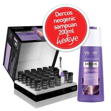 Vichy Dercos Neogenic 28 Ampul Neogenic Şampuan 200ml HEDİYE | 215,20 TL | Dermoeczanem'de. Hem indirimli, hem de şampuan hediyeli Vichy Dercos Neogenic. Bu fırsat kaçmaz!