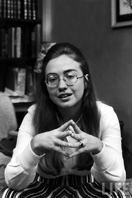 Old Portrait of Hillary Clinton in 1969