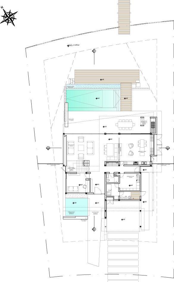 DLC House / Vanguarda Architects (planta baja)