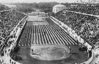 On April 6, 1896, the Olympic Games, a long-lost tradition of ancient Greece, are reborn in Athens 1,500 years after being banned by Roman Emperor Theodosius I.