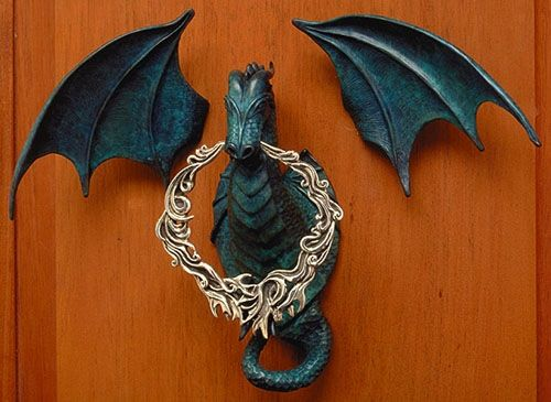 celtic dragon door knocker