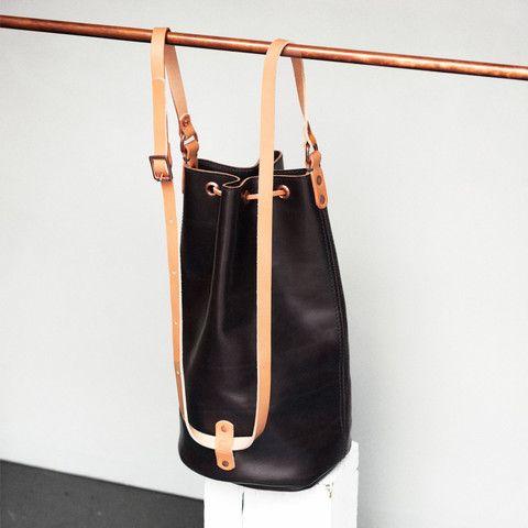 Alfie Douglas Alfie Eight - Large Duffle / Dk Brown - Leathercraft - Accessories - Handmade in England - copper - handstitch - Technology - Handbag fashion - Backpack