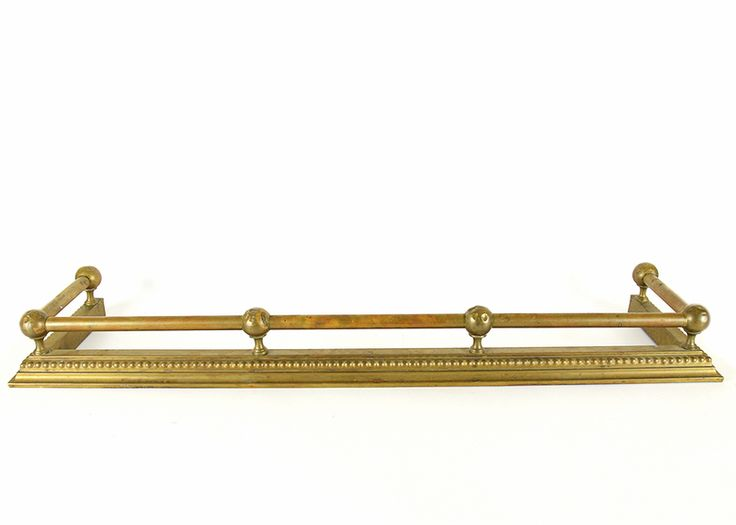 Brass Fireplace Fender from Wakefield-Scearce Galleries
