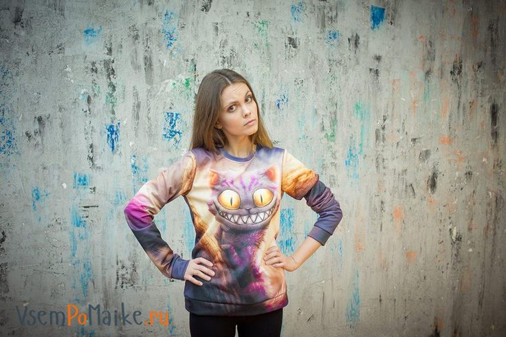 Заведи себе милого котика)) Заказать такой принт ► http://vsempomaike.ru/zhenskiye-futbolki/maiki-koty-30333/