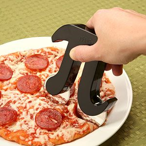 The Pizza Pi Cutter makes a unique gift for math teachers (or lovers of math).