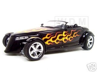 Plymouth Prowler Diecast Model Black With Flames 1/18 Die Cast Car By Anson
