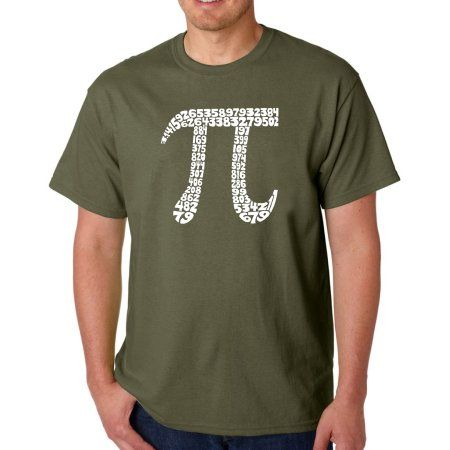 Los Angeles Pop Art Men's T-shirt - The First 100 Digits of PI, Size: 4XL