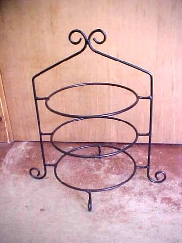 Wrought Iron 3 Tier Pie/Plate Holder - I want one for the tea table