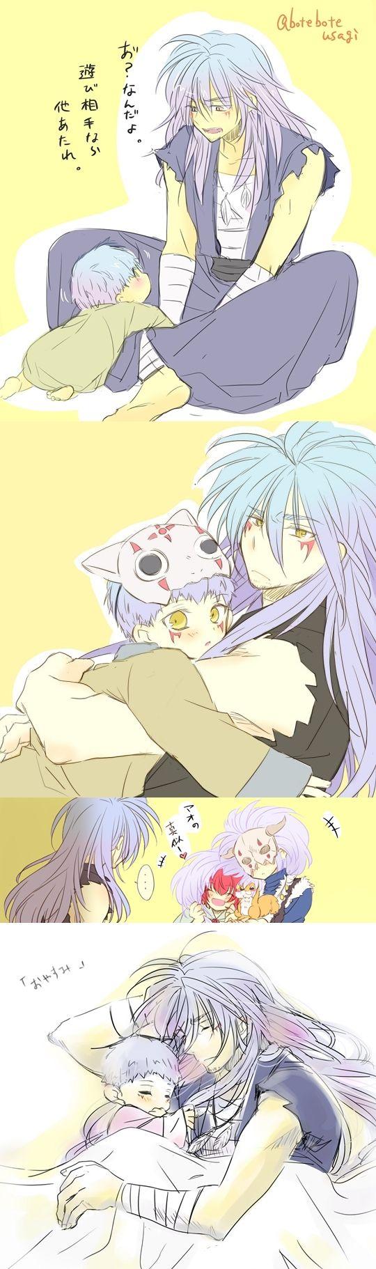 Ao and little Shin-Ah ~ Akatsuki no Yona // I can't even begin to describe how much I love Ao ♡