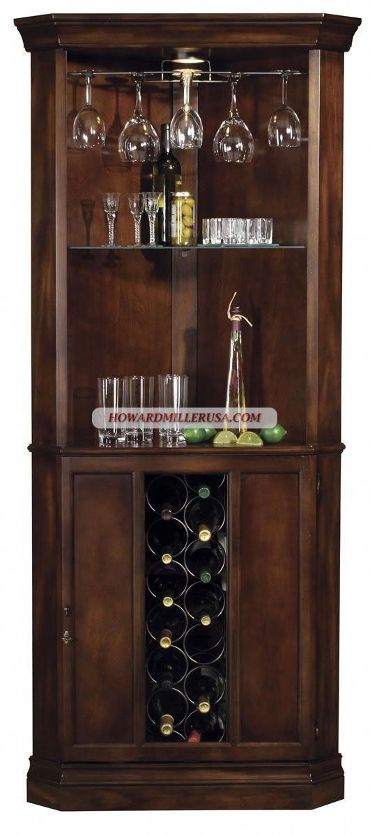 Howard Miller Cherrytraditional Corner Wine Cabinet Winebar