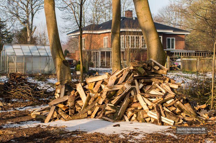 Chopping wood …