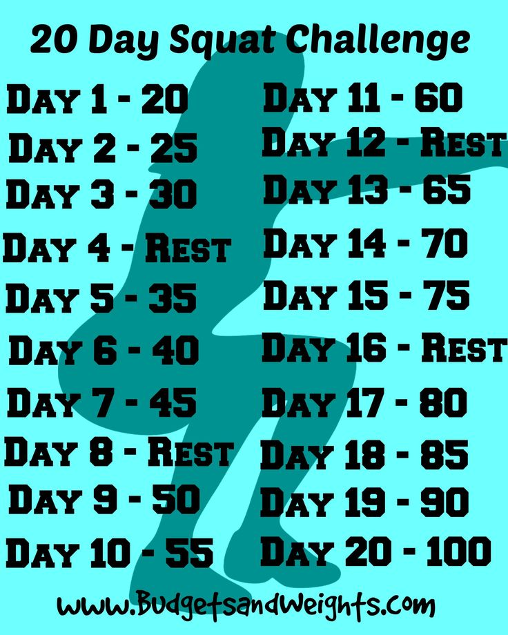 20 Day Squat Challenge for Beginners I have no butt. I don't know what happened