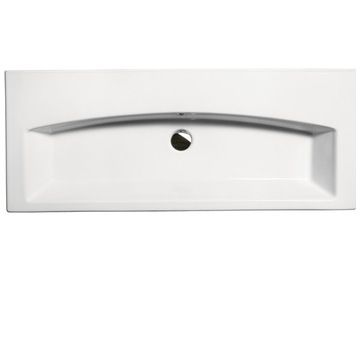 GSI 752311 By Nameek's Losagna Rectangular White Ceramic Wall Mounted or Drop In Bathroom Sink - TheBathOutlet