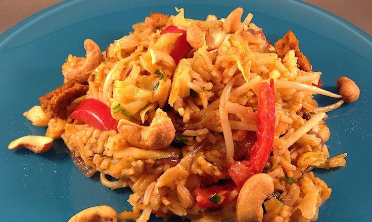 Recept voor vegetarische Thaise Nasi met tofu | Wessalicious
