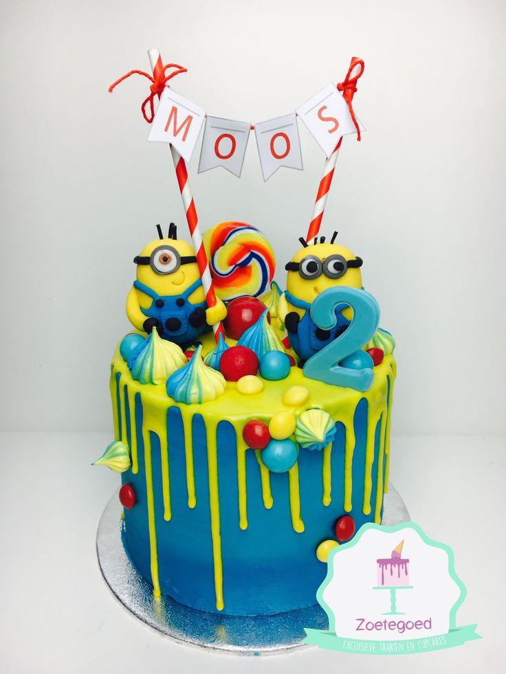 Original tarta para fiesta temática Minions. #tarta #Minions