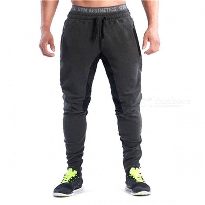 Detector Men's Sports Trousers Sportwear Pants Fitness Brand Pants Clothing Clothes Pants for Gym, Running M / GREY