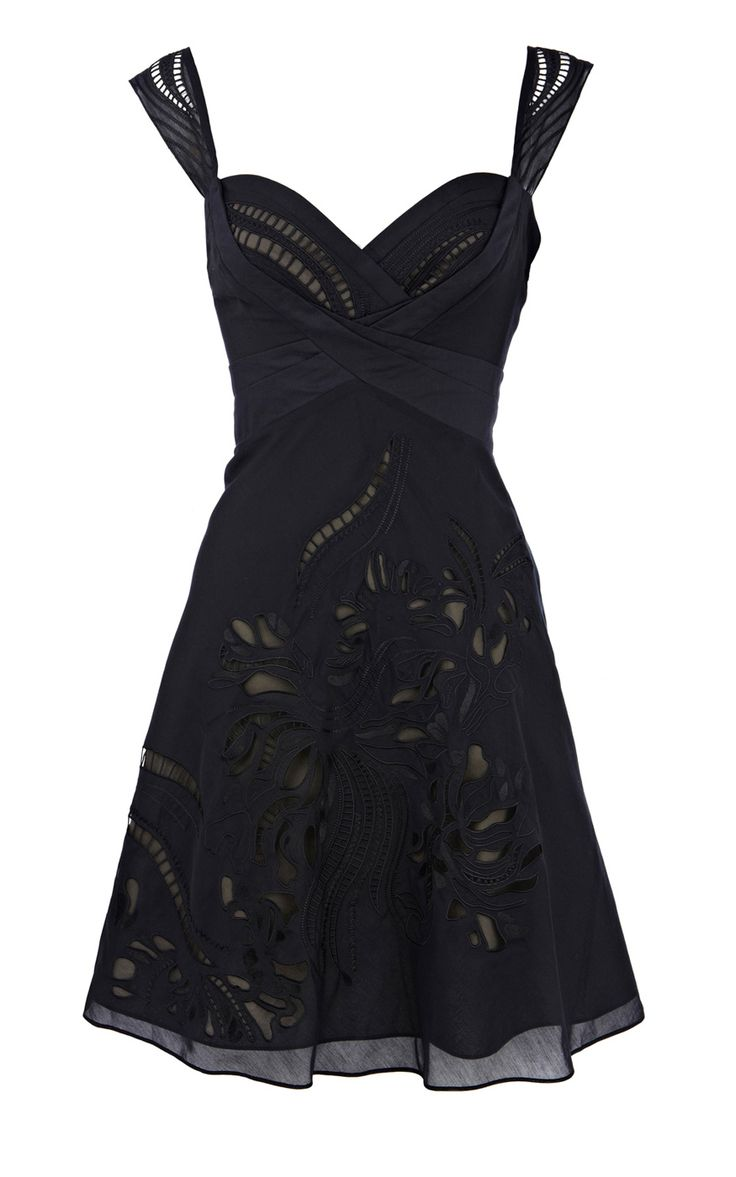 Karen Millen Tribal cutwork dress black. I absolutely love this. too bad i won't spend $102 on a dress I can't try on =/