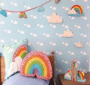 Rainbow Shaped Cushion Babys Childrens Nursery room Girls Boys Sass & Belle New | eBay