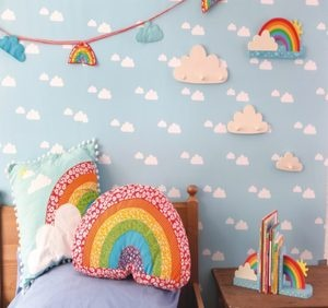 Rainbow Shaped Cushion Babys Childrens Nursery room Girls Boys Sass & Belle New | eBay