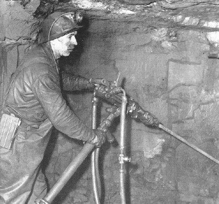 Miner in Bell Island mine