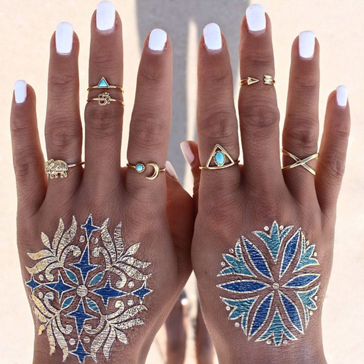 """$12.95 - 7 Piece Gold Bohemian Midi Ring Set This ring set will have you looking super stylish! We ship with a USPS tracking number. Shipping takes between two and four weeks. Click the """"add to cart"""""""