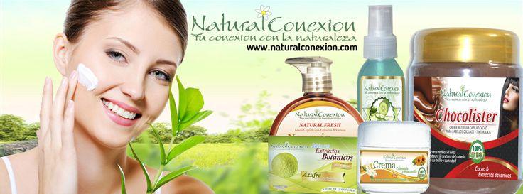 Cosméticos Naturales Orgánicos Libres de Parabenos y Quimicos. www.naturalconexion.com