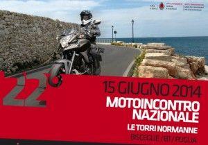 """Domenica la 22a edizione del moto incontro nazionale """"Le torri normanne"""""""