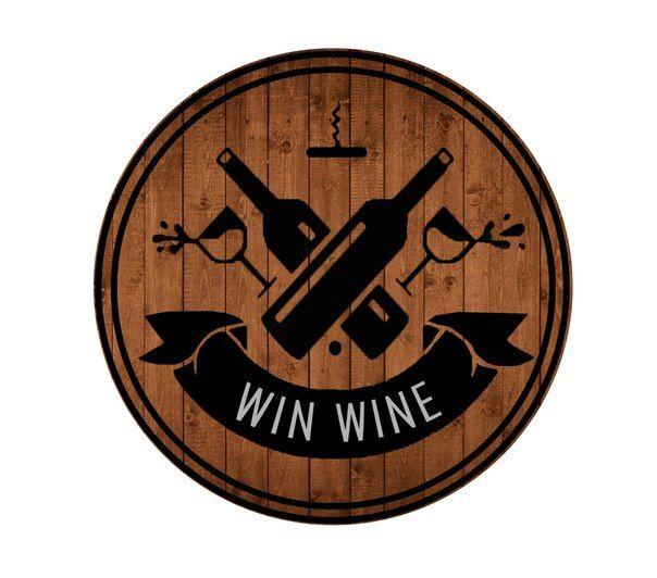 logo sketch Win Wine